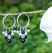 Chandelier Hoop Earrings in Sterling Silver Allure.