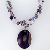 Purple Velvet Double Necklace