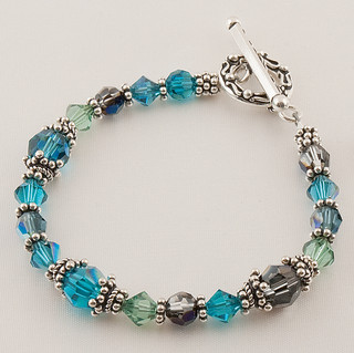 Basic Bracelet shown in Sterling Silver Antigua