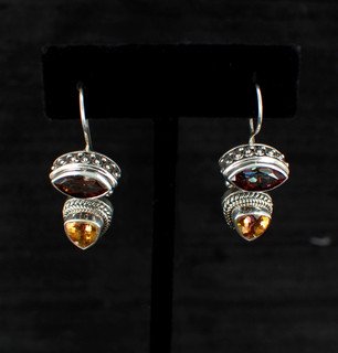 Azotic Topaz & Canary Topaz Earrings