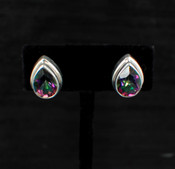 Mystic Topaz Teardrop Post Earrings