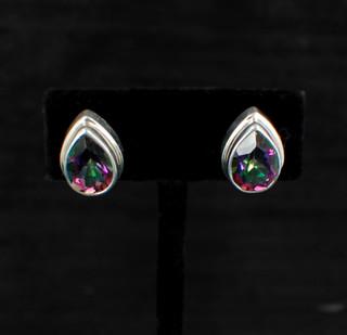 Mystic Topaz Teardrop Post Earrings