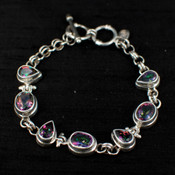 Mystic Topaz Teardrop & Oval Bracelet