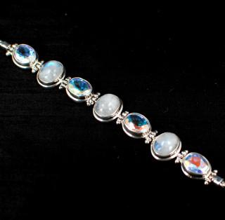 Moonstone & Mercury Mist Small Bracelet