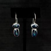 Neptune Topaz Baguette & Oval Earrings
