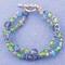 Double Bracelet shown in Sterling Silver Serenity - Sapphire, Tanzanite, Peridot & Aquamarine Swarovski crystals.