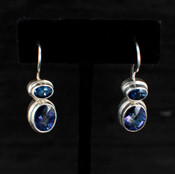 Azotic Blue Topaz Oval Earrings