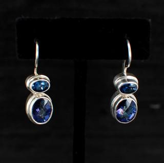 Azotic Blue Topaz Oval Earrings
