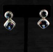 Mystic & Blue Passion Topaz Round/Cushion Post Earrings
