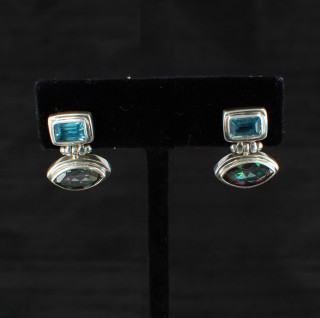 Mystic & Blue Topaz Post Earrings