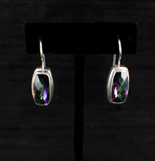 Mystic Topaz Baguette Earrings