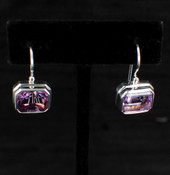 Amethyst Emerald-Cut Earrings