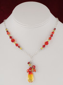 Teardrop Cluster Necklace in Fire