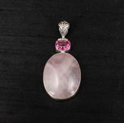 Rose Quartz & Pink Topaz Pendant