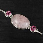 Rose Quartz & Pink Topaz Bracelet