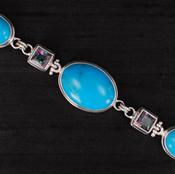 Turquoise & Mystic Topaz Bracelet
