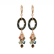 Cosmic Crystal Tabac Earrings