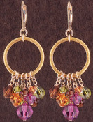 Ring Cluster Earrings in 18k Gold Vermeil Cabrina