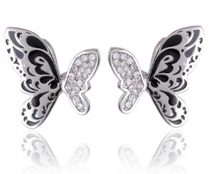 Abstract Butterfly Earrings