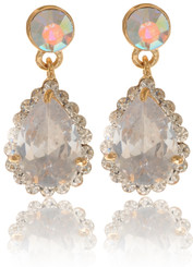 Clear Crystal Teardrop Earrings