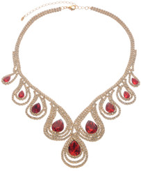 Neoglory D-Day Gold Plated Luxury Crystal Wedding Necklace