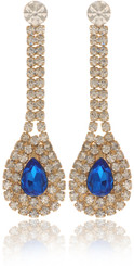 Neoglory D-Day Gold Plated Luxury Crystal Wedding Earrings