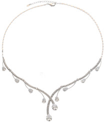 Neoglory Raindrop Crystal Party Wear Necklace