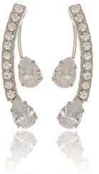 Twin Teardrop Crystal Earrings
