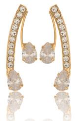 Twin Clear Crystal Teardrop Earrings