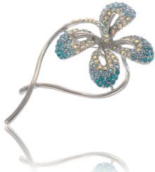 Neoglory Gorgeous Aqua Blue Butterfly Casual Brooch
