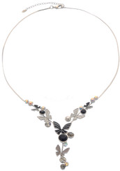 Neoglory Vivid Sliver Plated Crystal Butterfly Party Ware Necklace Set