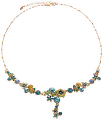 Neoglory Bloom Gold Plated Crystal Butterfly Summer Holiday Necklace