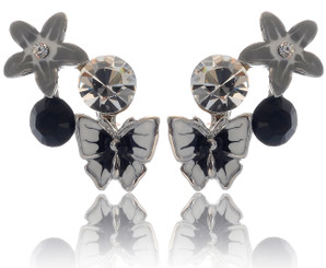 Neoglory Bloom Crystal Butterfly Summer Holiday Earrings