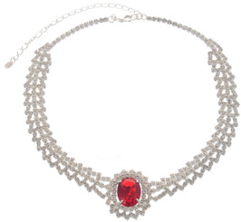 Neoglory Sunny Day Oval Crystal Wedding/Party Wear Necklace