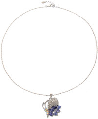 Neoglory Gorgeous Amethyst Purple Crystal Butterfly Casual Necklace