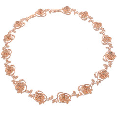 Neoglory Exquisite Linked Roses Casual Necklace