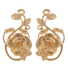 Neoglory Exquisite Linked Roses Casual Earrings