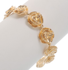 Neoglory Exquisite Linked Roses Casual Bracelet