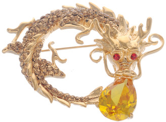 Neoglory Unique Royal Dragon Crystal Casual Brooch