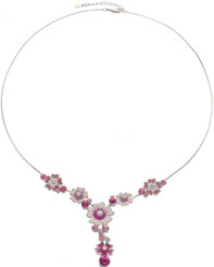 Neoglory Yesterday Enameled Daisy Casual Necklace