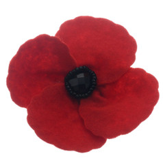 Neoglory Exclusive Handmade Red Felt Rememberance Day Poppy Brooch