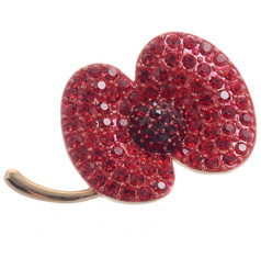 Neoglory Rose Gold Plated Poppy Brooch Poppy Metal Listed For Charity