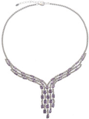 Neoglory Blessed Streamline Crystal Party Wear Necklace