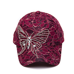 Pink Butterfly Lace Cap