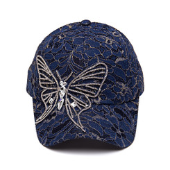 Blue Butterfly Lace Cap