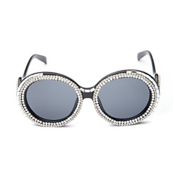 Round Crystal Sunglasses