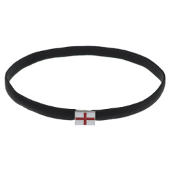 England Flag Black Elastic Headband