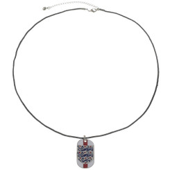 Neoglory England Three Lions Enamelled Pendant Necklace