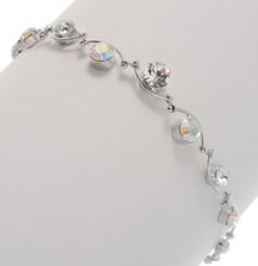 Neoglory Dazzling Branch Linked Round Crystal Bracelet