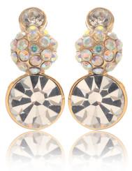 Neoglory Magic Mirror Round Crystal Earrings